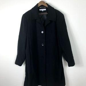 Larry Levine Wool Coat Plus Size 24W